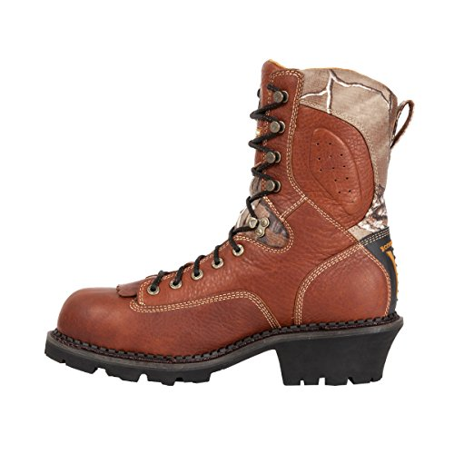 Work Medium WR Boot SR Core Logger Tex Gore Georgia Brown Mens qwFPTT0