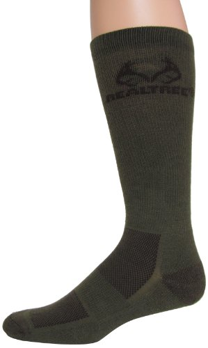 Realtree Outfitters Men's Ultra-Dri Boot Socks (1-Pair), Olive, Large
