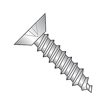 Type F Plain Finish Phillips Drive #2-56 Thread Size 18-8 Stainless Steel Thread Cutting Screw Pack of 100 3//8 Length 82 Degree Flat Head