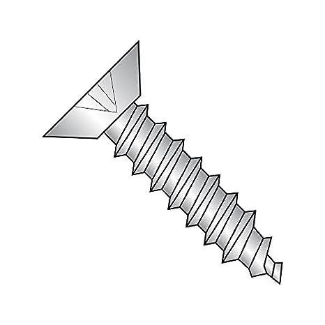 Star Drive 3//8 Length Type B Pack of 100 Steel Sheet Metal Screw #8-18 Thread Size Undercut 82 degrees Flat Head Zinc Plated