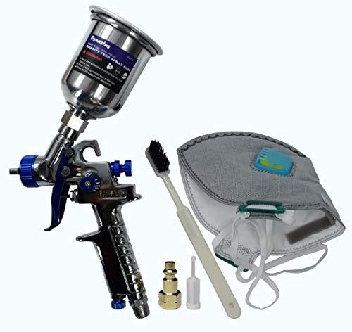 (Touch Up 4.2 oz HVLP Air Spray Gun Auto Car Detail Paint Sprayer Spot Repair, with Protective Kits)