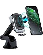CHOETECH Wireless Car Charger, Auto-Clamping 15W Max Fast Charging Car Mount, USB C Phone Holder Compatible with iPhone 11/11 Pro/11 Pro Max/XS/X/8, LG V30/V35, Samsung Note 10/S10+/S9,Huawei P30Pro