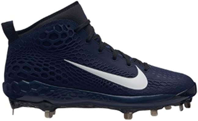 Regulación Preciso Ostentoso  Amazon.com | Nike Men's 9-Spike Force Zoom Trout 5 Metal Baseball Cleats (  Navy/White / #140 ) | Shoes