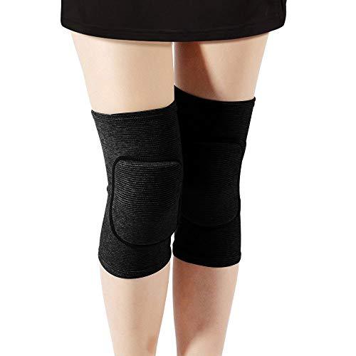 Rtudan Best Knee Pads for Dancers, Non-Slip Knee Pads, Thicken Sponge Brace,Knee Guards for Dance Knee Pads, Yoga Knee Pads, Gymnastics Knee Pads (Black, Small)