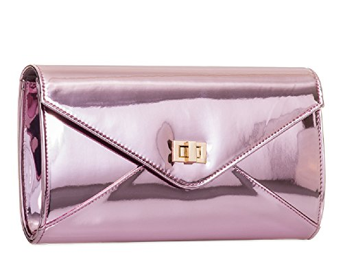 Ladies Clutch Patent Bag Women's Champagne Evening Leather KL2052 Cocktail Bridal Handbag Party q4fCxq