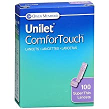 Unilet ComforTouch Super Thin Lancets 30 Gauge - 100 ct, Pack of 4