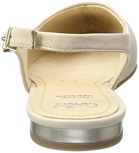 Caprice 29400, Sandalias con Cuña para Mujer Beige (Beige Multi)