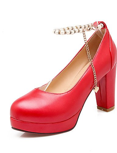 GGX/Damen Schuhe Chunky Heel Heels/Basic Pumpe/, Round Toe Heels Büro & Karriere/Party & Abend/Kleid pink-us5.5 / eu36 / uk3.5 / cn35
