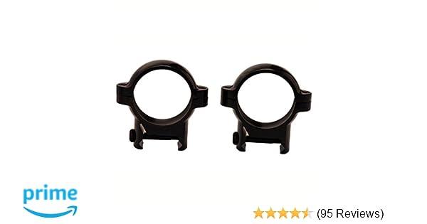 "Matte Black 420531 Burris High Signature Weaver Style Zee Rings Pair 1/"""