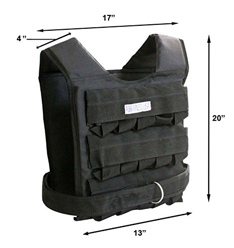 Weight Vest 66 Lbs Adjustable by Ader Sports