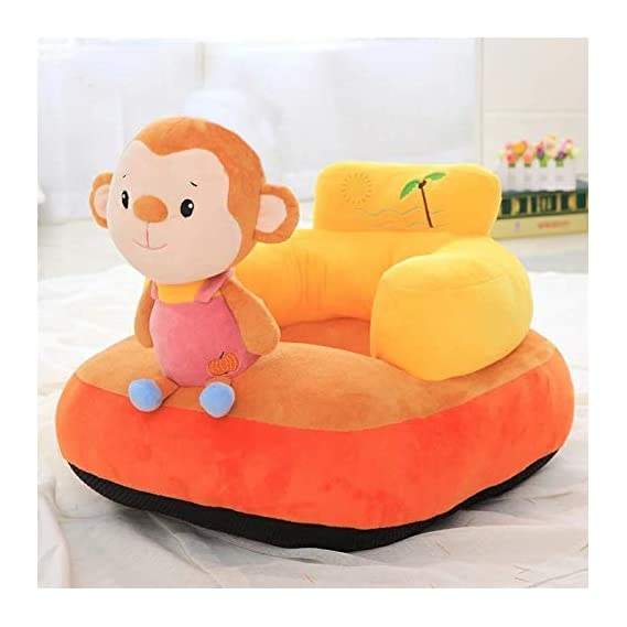SHOPICTED Rabbit Shape Soft Cushion Sofa Seat or Rocking Chair for Kids (Orange, 0 to 4 Years) (Unisex)