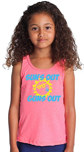 SoRock Kid's Sun's Out Guns Out Tank Top 6 (Girl In Top Gun)