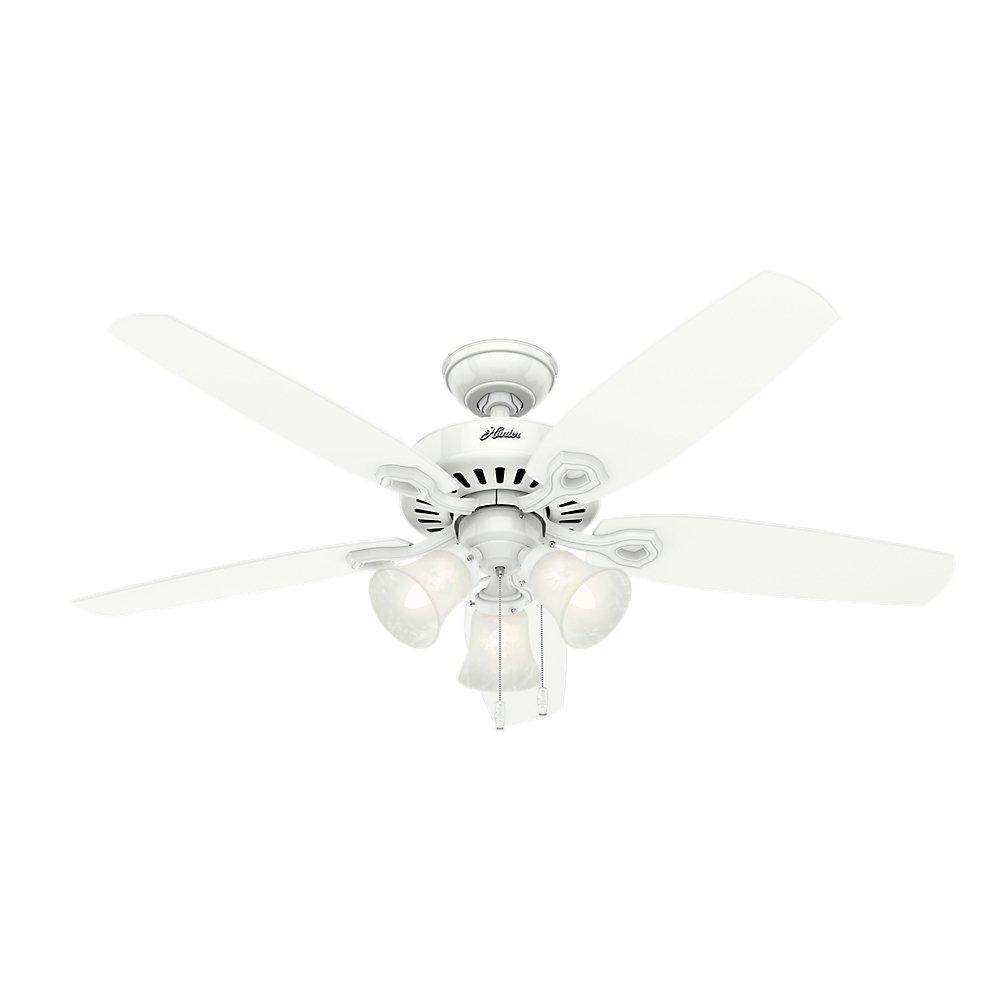 Hunter 53236 Builder Plus 52-inch Ceiling Fan, Snow White