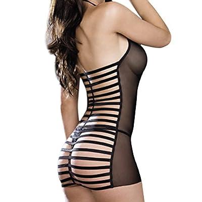 Lisli Women's Sexy Lace Lingerie Dress Underwear Babydoll G-string Sleepwear