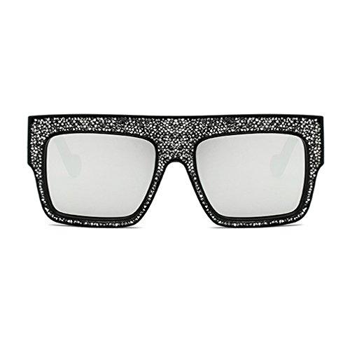 De Lujo Gafas Sol Tide Nuevo De De Hombres Cool Señoras Gafas Marco Mujeres Moda Gran Unisex De Tamaño C4 Las Rhinestones Grande xXan4gwAqT