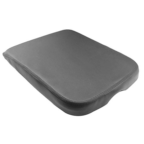 QKPARTS Armrest Center Console Leather Synthetic Cover for Dodge Ram 2002-2008 Gray