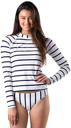 Mott50 Women's Leigh Fashion Hoodies, True Navy Stripe, Medium (Leigh Stripe)