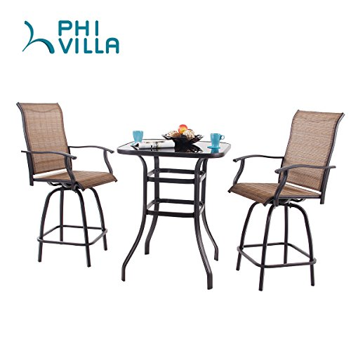 Phi Villa Swivel Bar Stools All Weather Patio Furniture