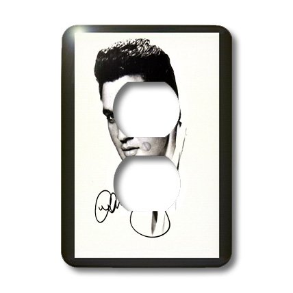 3dRose lsp_48159_6 Framed Autographed Portrait  2 Plug Outlet Cover Autographed Light