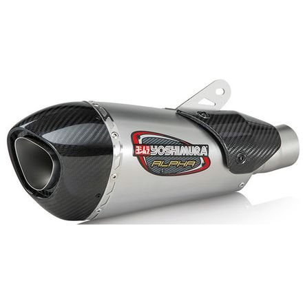 Yoshimura Alpha T Full System Exhaust (Race/Stainless Steel/Stainless Steel/Carbon Fiber/Works Finish) ()