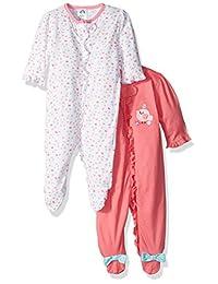 Gerber baby-girls Baby 2 Pack Zip Front Sleep 'N Play
