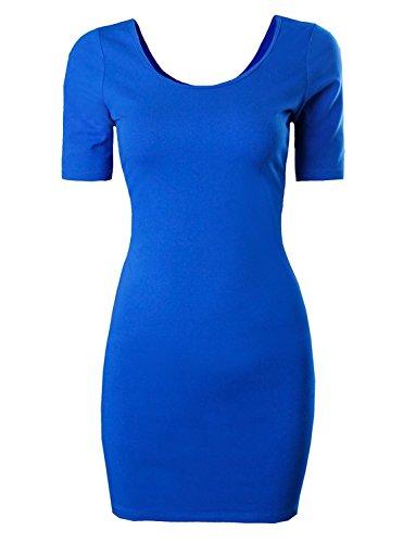 oppicong Womens Classic Slim Fit Bodycon Dress BlueSmall / Medium ()