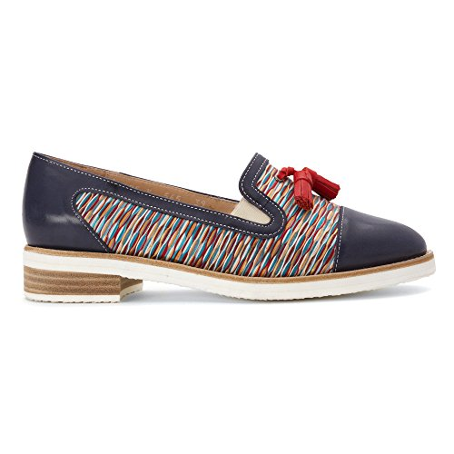 Fidji Womens V565 Slip-on Dagdriver Blå Multi Rød