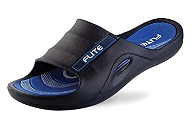 2313d1c6e13 Image Unavailable. Image not available for. Colour  Flite Men s Black and  Blue House Slippers ...