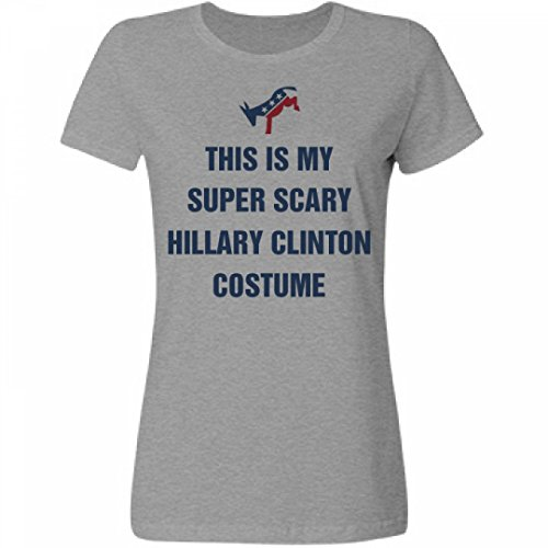 [Political Hillary Halloween Costume:Misses Relaxed Fruit of the Loom T-Shirt] (Miss America Costume 2016)
