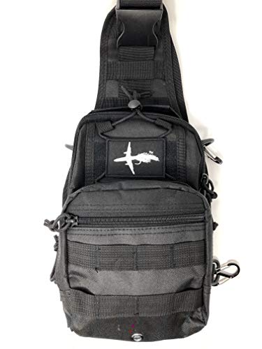 El Bolso Fly Fishing Sling Pack Adjustable Fishing Pack Hiking Fly Fishing Pack Tactical Fishing Pack The Perfect Size Bag for Fly Fishing Super Simple Yet Functional Durable