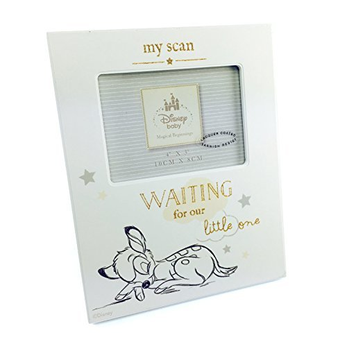 Baby Scan Photo Frame Disney Bambi Waiting For The Little One Gift Boxed by ukgiftstoreonline