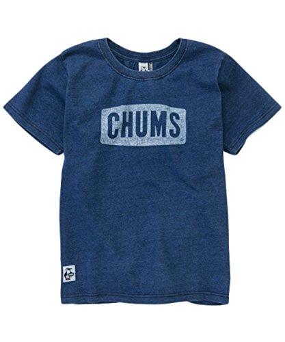地質学群れ憂慮すべき(チャムス) CHUMS Tシャツ Logo T-shirt Indigo ロゴ Tシャツ インディゴ