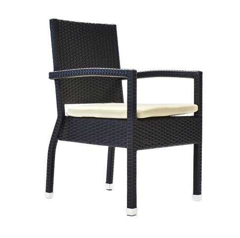 (Bienal CR051 Venice Deep Seating Accent Garden Dining Chair)