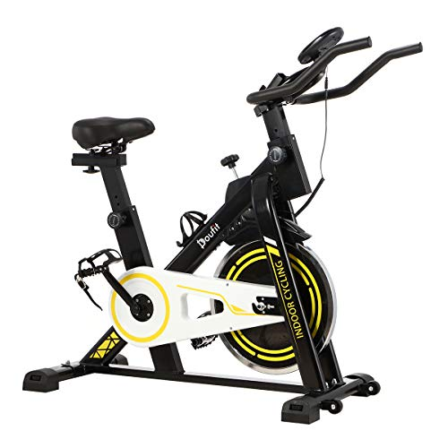 Doufit Indoor Cycling Bike Stationary, EB-03 Magnetic Exercise Bike Stationary for Home Use, Spinning Workout Bicycle with 30 Lbs Flywheel and Tablet Holder