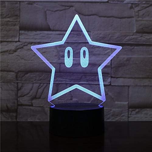 Zhuhuimin Novedad 3D Night Light Cool Star Lámpara de Dibujos ...