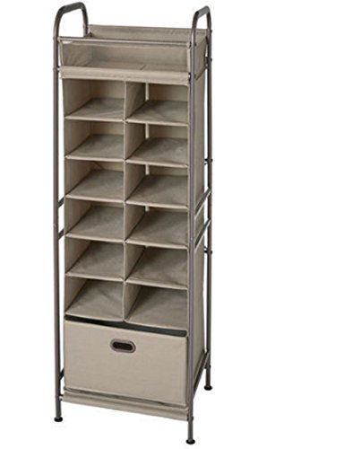 Neatfreak Vertical Cubby 12 Compartment Organizer with Drawer