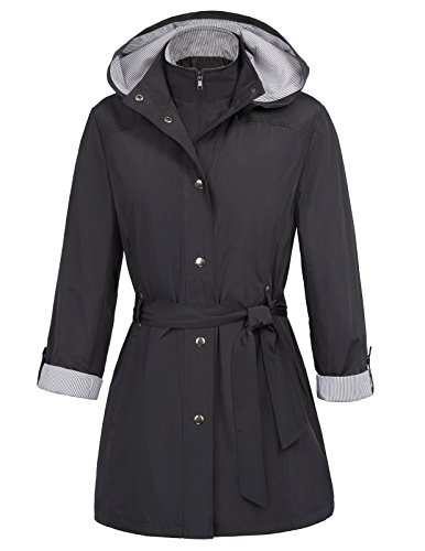 Kate Kasin British Style Double Breasted Slim Jacket Trench Coat M - Jacket Short Trench