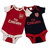 Official Licensed Arsenal F.C - Bodysuit (12-18 Months 2 Pack - NR)