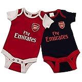 Official Licensed Arsenal F.C - Bodysuit (3-6 Months 2 Pack - NR)