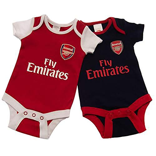 Official Licensed Arsenal F.C - Bodysuit (3-6 Months 2 Pack - NR) by Official Licensed