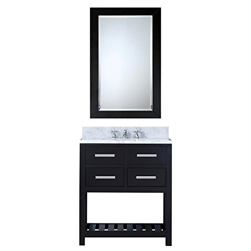 Water Creation 30EB Single Sink Bathroom Vanity with Matching Framed Mirror from -