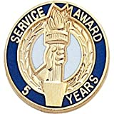 25 years of service pin - Service Award Lapel Pin - 25 Years (5-Pack)