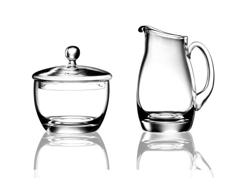 Luigi Bormioli Michelangelo Sugar and Creamer Set (Glass Pattern Creamer)