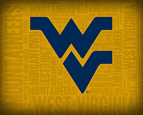 Prints Charming College Logo Word Cloud College West Virginia Mountaineers Unframed Poster 12x16 Inches