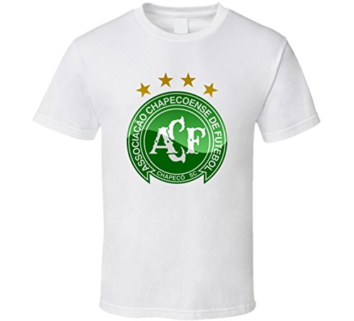 fan products of Brazil's Chapecoense Soccer Team RIP T Shirt L White