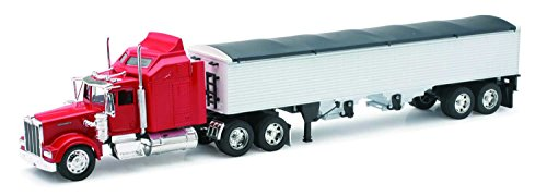(New-Ray Kenworth W900 Grain Hauler Tractor and Trailer 1/32 Scale Toy Model Car )