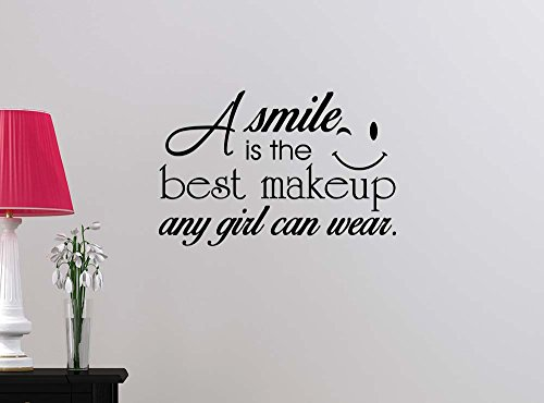 A smile is the best makeup a girl can wear Happy Love girl's