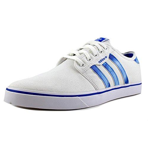 Adidas Mens Seeley Skate Shoe Bianco / Blu Uccello / Bianco