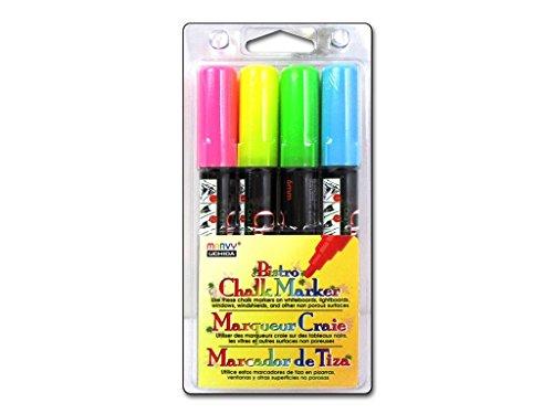 (UCHIDA 4pc Bistro Chalk Marker Set H 4 Piece)