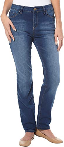 - Royalty by YMI Womens Slim Fit Stretch Jeans 6 Medium wash Blue